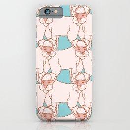 Vector Kawaii Schnauzer Pattern iPhone Case