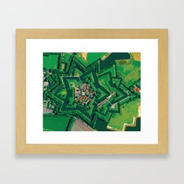 Star Fort Bourtange in the Netherlands Framed Art Print