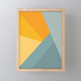 Abstract Mountain Sunrise Framed Mini Art Print