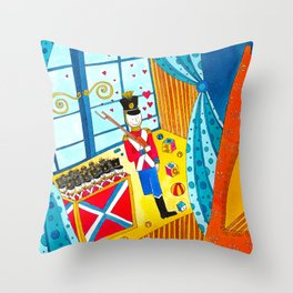 The Steadfast Tin Soldier Throw Pillow