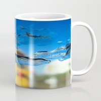sia Mugs featuring yellow bus and ice photography  by Antoine