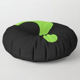 Enigma - green question mark Floor Pillow