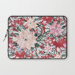 LUSH POINSETTIA Red Lush Holiday Floral Laptop Sleeve