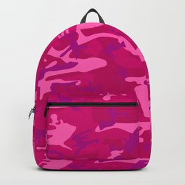 Bright Pink and Purple Camo Pattern Backpack