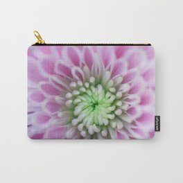 Bright Pink Chrysanthemum Carry-All Pouch
