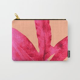 Peach Pink Ferns, Living Coral Carry-All Pouch