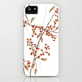 Of red and leaves iPhone Case