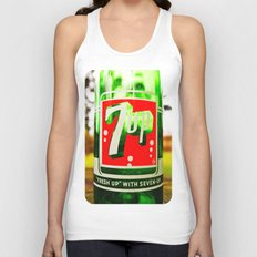 Classic 7 Up bottle Unisex Tank Top