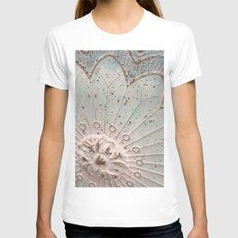 Teal flower T-shirt