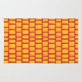 Red Grid Rug