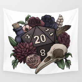 Necromancer D20 Tabletop RPG Gaming Dice Wall Tapestry