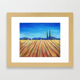 Summer Field landscape Framed Art Print