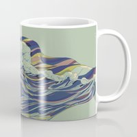 huebucket Mugs featuring OCEAN AND LOVE by Huebucket
