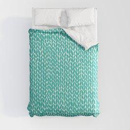 Hand Knit Aqua Comforters