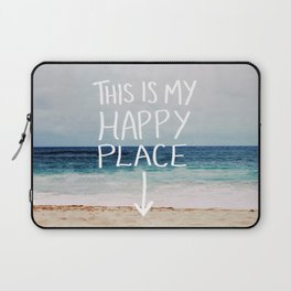 My Happy Place (Beach) Laptop Sleeve