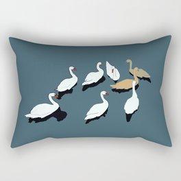 Ducks of the big pond Rectangular Pillow