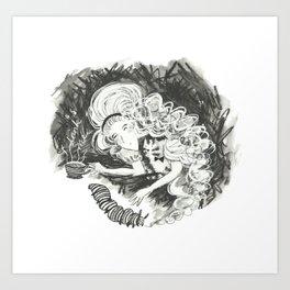 Drink me Alice Art Print