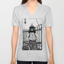 asc 589 - La maison close (No trespassing) Unisex V-Neck