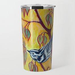 Black and White Warbler Travel Mug