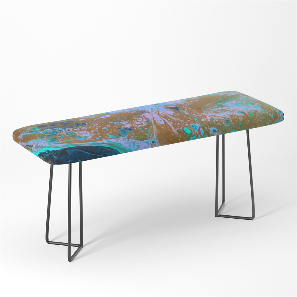 Ultra_Violet_Abstract_Bat_Painting_by_Noora_Elkoussy_Bench_by_nooraelkoussy