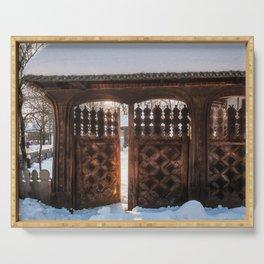 Enter the gate into the winter season! Serving Tray