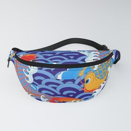 Koi fish / japanese tattoo style pattern Fanny Pack