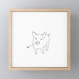 the pig Framed Mini Art Print