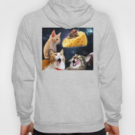 Cats and the mouse on the cheese Hoody