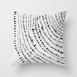 Tree Rings No. 1 Line Art Throw Pillow