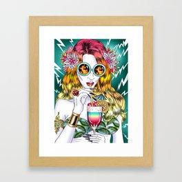 Beach Frenzy Framed Art Print