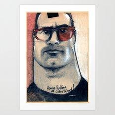 henry rollins is clark kent... Art Print