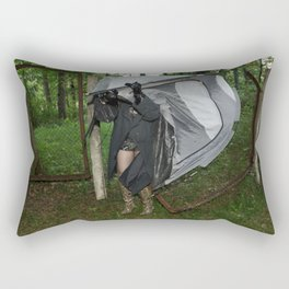 It's a Matter of Fact that it Always Rains on Tents Rectangular Pillow
