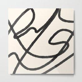 Thick Continuous Line Series 5 | Boho Home Decor, Modern Wall Art, Continuous Line Art, Contour Line Metal Print