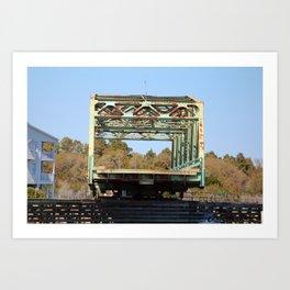 Swing Bridge Opening 2 Art Print