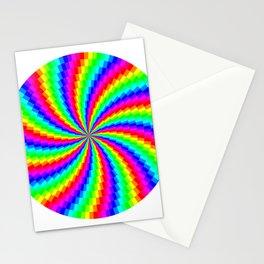 Rainbow Swirl Stationery Cards
