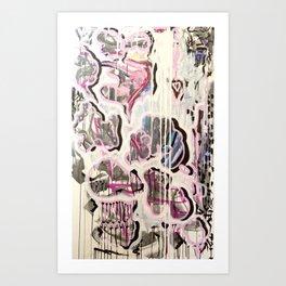 PUFFY CHEATER CHEETA Art Print