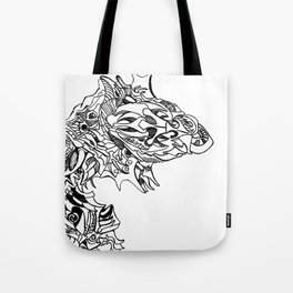 Unbloomed faced Flower Tote Bag