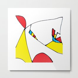 Abstract Colorful Composition Metal Print
