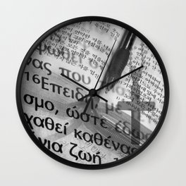 Multilingual Bible Study Wall Clock