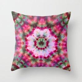 Summer Tie Dye Starburst Throw Pillow
