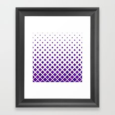 Diamond Pattern in Purple Framed Art Print