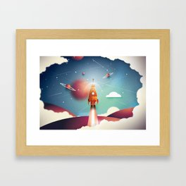 Colour Rocket Framed Art Print
