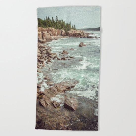 Swirling Sea Beach Towel