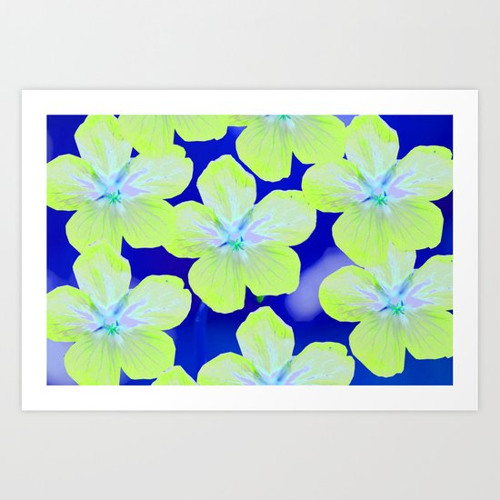 Retro Flowers II Art Print
