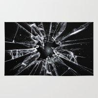 broken Area & Throw Rugs featuring Broken by nicebleed