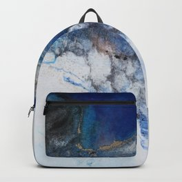 Abstract blue marble Backpack