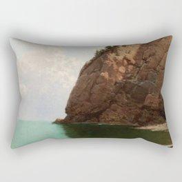 'The Secret Cove' landscape maritime painting Rectangular Pillow