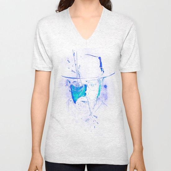 Mr. White (Crystal Blue) Unisex V-Neck