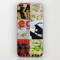 notebook iPhone & iPod Skins featuring SCHOOL NOTEBOOK by db Waterman