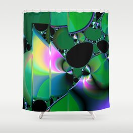 Fractal 76 Shower Curtain